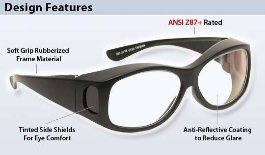 Fitover Safety Glasses PSG-CLR-FOB