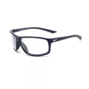Radiation Glasses Nike Adrenaline P EV1114 001 in Matte Black/Silver Frame, Angled Side Left