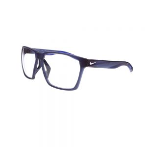 Nike Maverick M Radiation Glasses EV1095-410 in Matte Midnight Navy, Angled to the Side Left