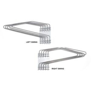 Five Arm Lead Apron Wall Rack Both Sides