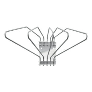 Five Arm Lead Apron Wall Rack