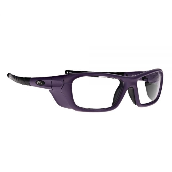 Radiation Safety Glasses in Model Q200 in Purple RG-Q200-PUR-50SS