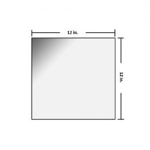 12 x 12 inch Radiation Shielding Glass
