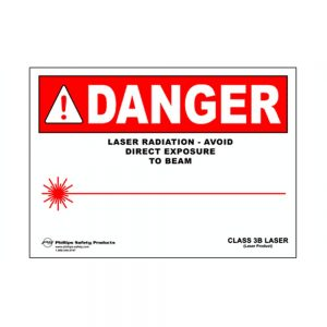 Class 3B Plastic Laser Radiation Warning Sign #27