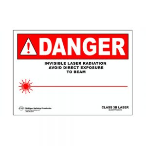 Class 3B Plastic Laser Radiation Warning Sign #28