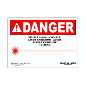 Class 3B Plastic Laser Radiation Warning Sign #29