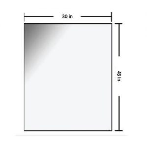 30 x 48 inch Radiation Shielding Glass