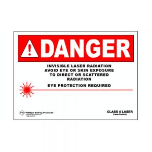 Class 4 Magnetic Laser Radiation Warning Sign #31