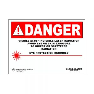Class 4 Plastic Laser Radiation Warning Sign #32