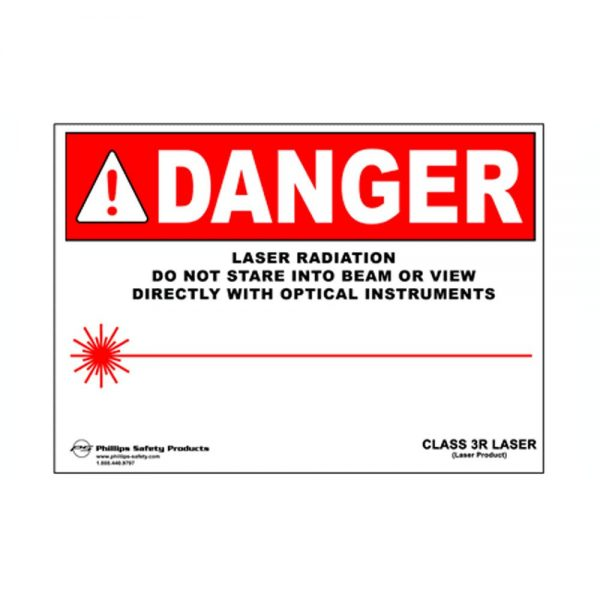 Class 3A Plastic Laser Radiation Warning Sign #34
