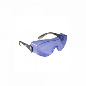 Fitover Glassworking Safety Glasses - Polycarbonate Sodium Flare, Model OTG