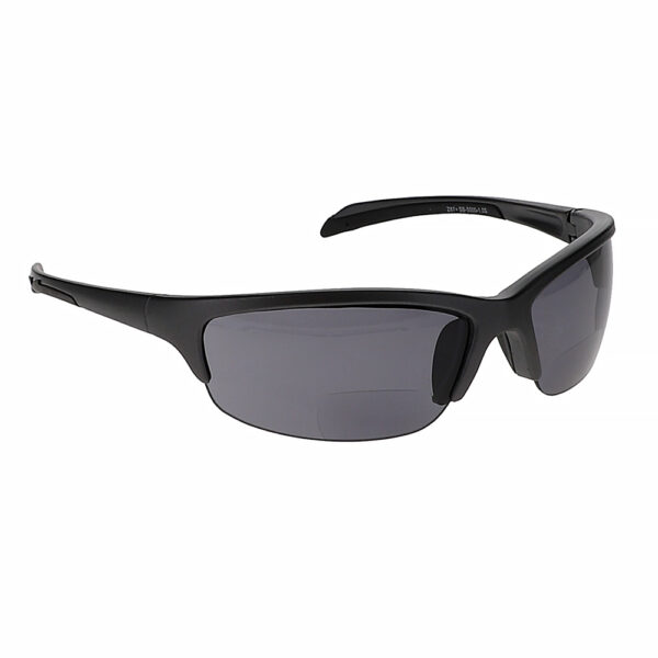 SB-5000 Bifocal Safety Glasses in Black with Smoke Grey Lenses