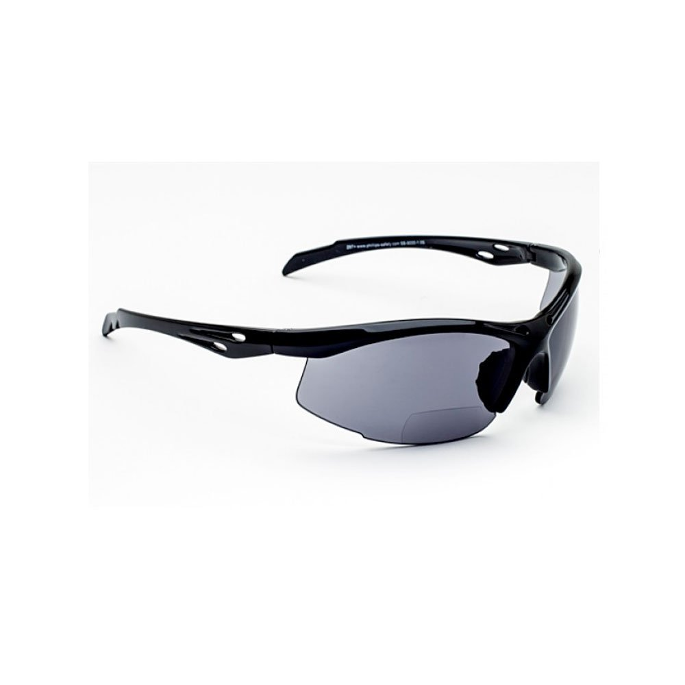 +1.00 Bifocal Safety Glasses SB-9000 with Yellow Lenses