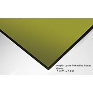 ALS 1100 Laser Protective Acrylic Sheet, Green