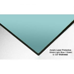 ALS 2000 Mid-IR Laser Protective Acrylic Sheet, Light Blue