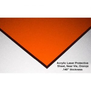 Near VIS Laser Protective Acrylic Sheet, Orange