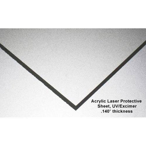 UV/Excimer Laser Protective Acrylic Sheet, Clear