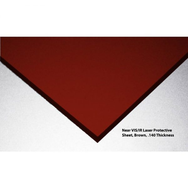 Argon, Diode, ND-YAG, Co2 Laser Protective Acrylic Sheet, Amber