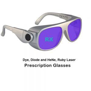 Dye, Diode and HeNe, Ruby Prescription Laser Safety Glasses