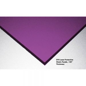 DYE Laser Protective Acrylic Sheet, Violet