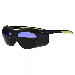 Glassworking Split Lens Safety Glasses in Black/Yellow, Model GB-F10-BY-SFP-G5