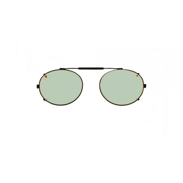 Oval Clip-On Glassworking Safety Glasses - Light Green, #GB-LG-OCO