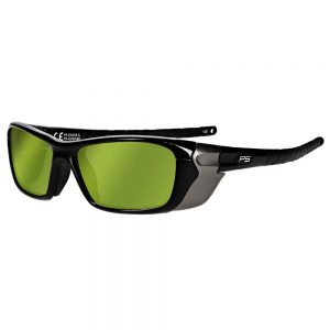 Glassworking Safety Glasses Light Green Lenses in Model Q200 in Black GB-LG-Q200-BK