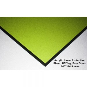 HT-YAG Laser Protective Acrylic Sheet, Pale Green