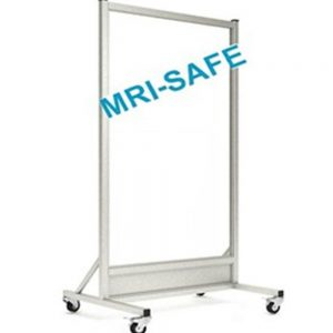 MRI-Safe Mobile Leaded Aluminum Barrier with Window, LB-3060-MRI