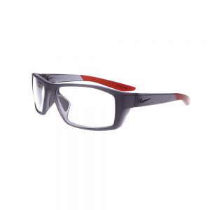 Nike Brazen Shadow M Radiation Glasses CT8226-021 in Dark Grey/Black Angled to the Side Left