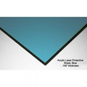 Ruby Laser Protective Acrylic Sheet, Light Blue