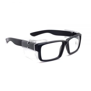 Safety Reading Glasses, Model BlackFin