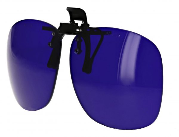 Cobalt Blue Plastic clip on flip up Shade 6 WLD-CB6-PCO