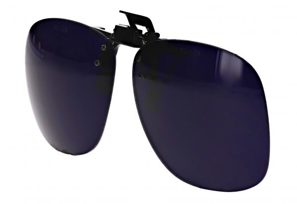 Cobalt Blue Plastic clip on flip up Shade 8 WLD-CB8-PCO