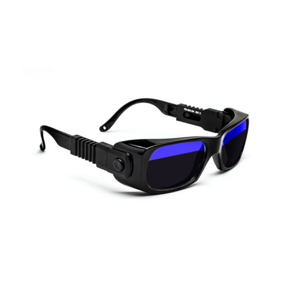 Quartz Working Split Lens Glass Working Safety Glasses, Model 300 Angled to the Side Right