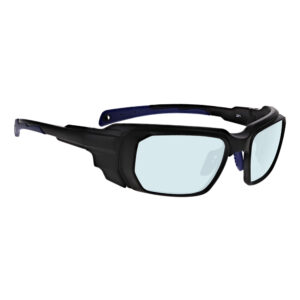 Model 16001 AKG Holmium YAG Co2 in Black and Blue Frame, Angled to the Side Right