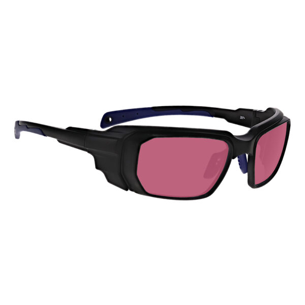 Model 16001 Alexandrite/Diode in Black and Blue Frame, Angled to the Side Right