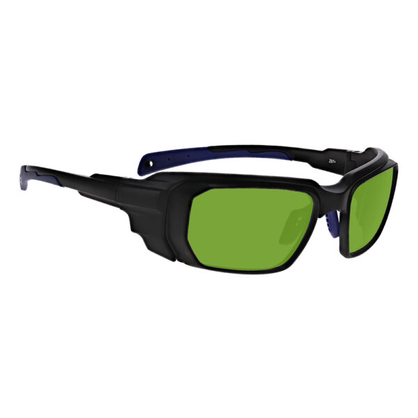 Model 16001 Alexandrite Diode Yag in Black and Blue Frame, Angled to the Side Right