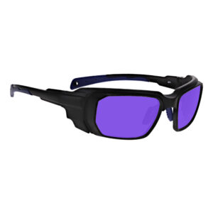 Model 16001 Dye, Diode and HeNe, Ruby Laser in Black and Blue Frame, Angled to the Side Right