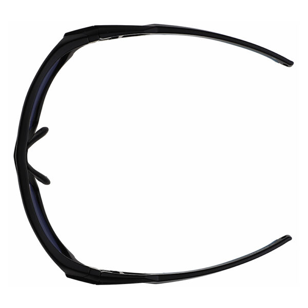 Model Q368 BoroTruView 3.0 Glassworking Safety Glasses in Black Blue Frame, Angled to the Top