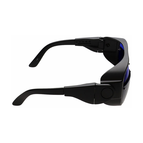 Glassworking Split Lens Model 66 Safety Glasses, Angled to the Right