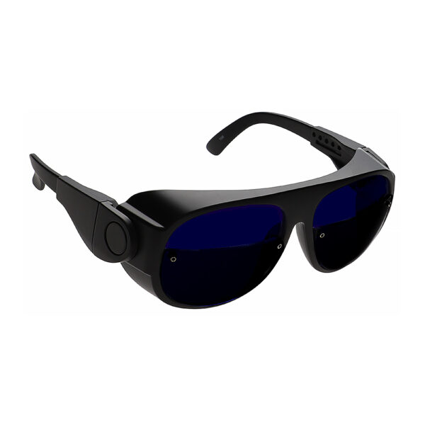 Glassworking Split Lens Model 66 Safety Glasses, Angled to the Side Right