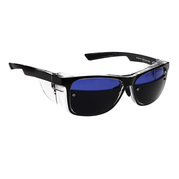 Glassworking Split Lens Model 15011 Safety Glasses, Angled to the Side Right