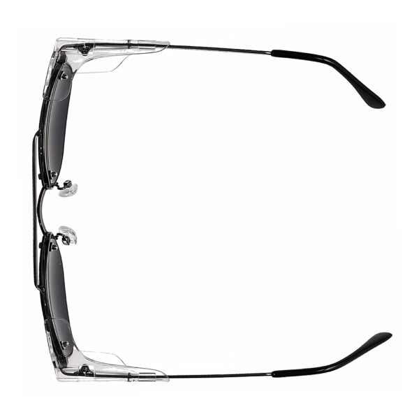 Glassworking Split Lens Model 202 Metal Safety Glasses, Angled to the Top