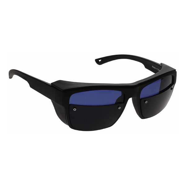 Glassworking Split Lens Model X25 Safety Glasses, Angled to the Side Right