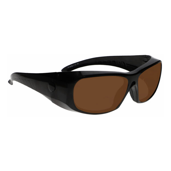 Model 1375 IPL Brown Contrast Enhancement in Black Frame, Angled to the Side Right