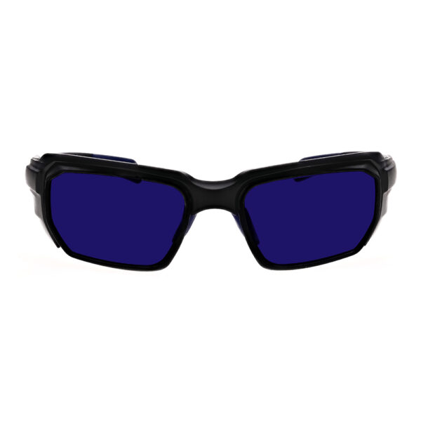Model-16001 Dye SFP Filter with Black and Blue Frame Angled to the Front