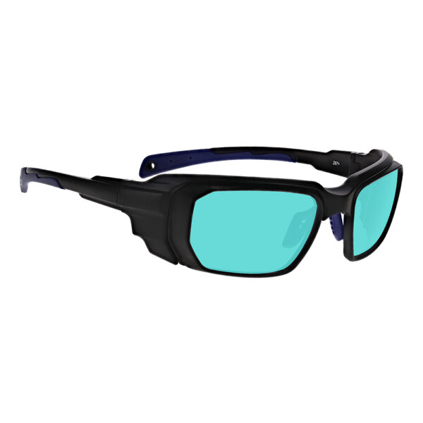 Model 16001 Multiwave YAG, Alexandrite Diode in Black and Blue Frame, Angled to the Side Right