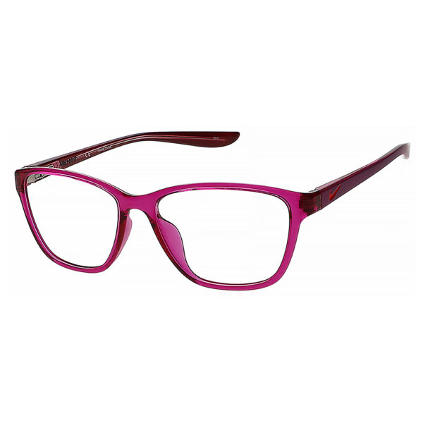 Nike 5028 Radiation Glasses 606 in Matte Cactus Flower/pink frame, Angled to the side left