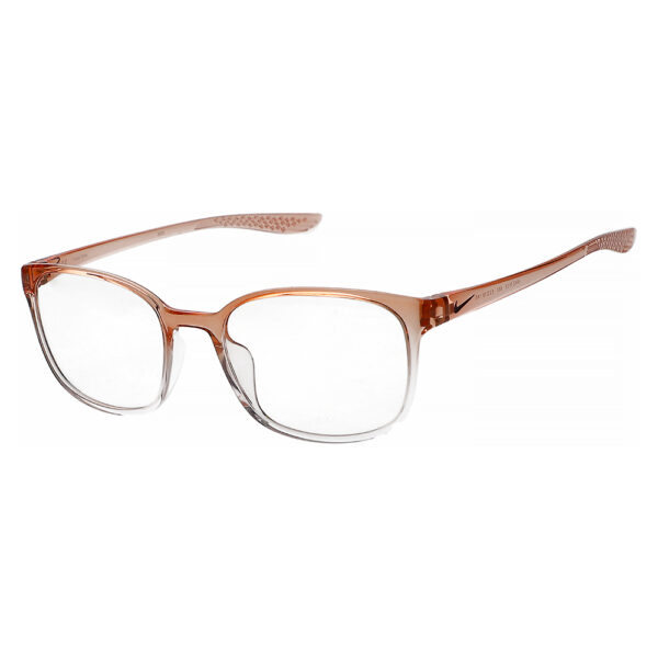 Nike 7026 Radiation Glasses 682 in Washed Coral Fade Frame, Angled to the Side Left